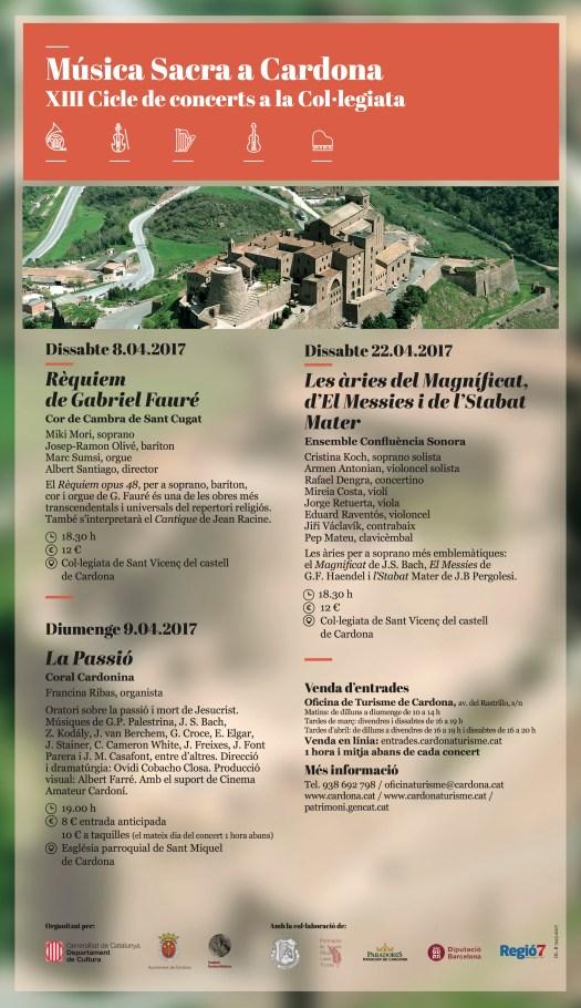 Cartell del Cicle de Concerts de Música Sacra a Cardona