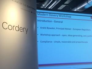 Modern Slavery Workshop – 9 February 2017