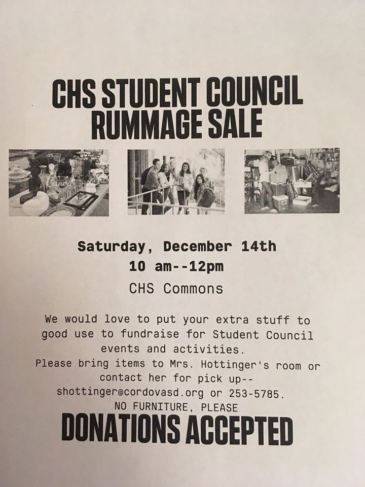 CHS Student Council Rummage Sale