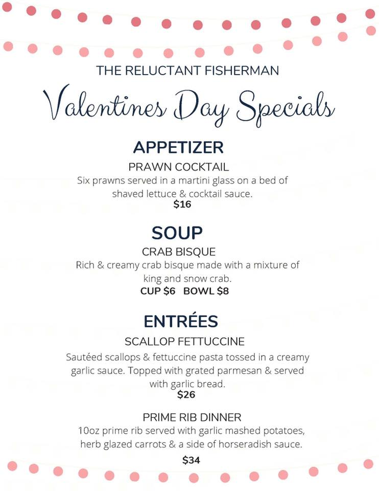 Reluctant Fisherman Valentine's Dinner