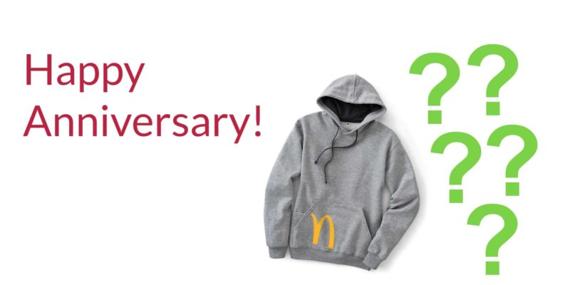 branded merchandise anniversary program