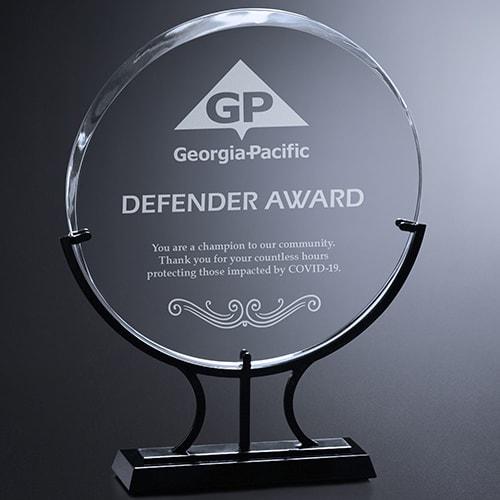 Defender Award Example Image