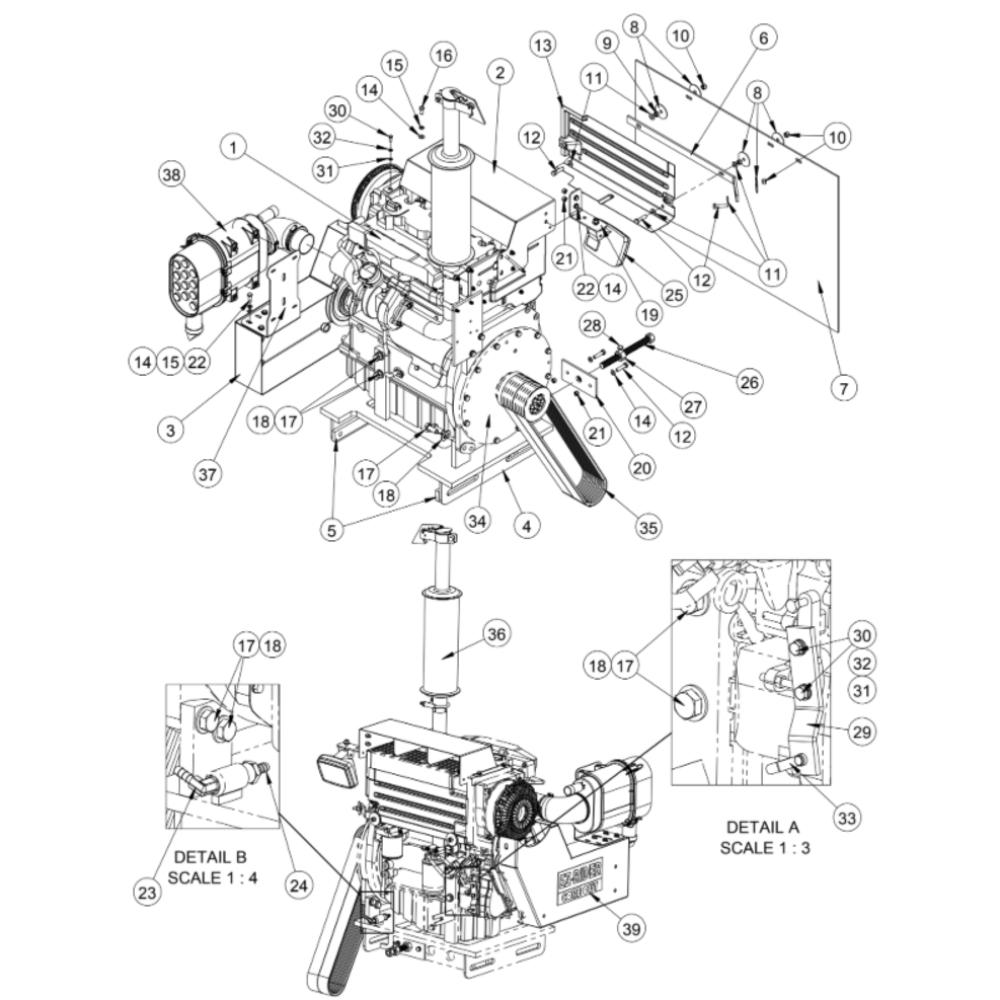 CC7874XL Diamond Products Core Cut Walk Behind Saws Parts