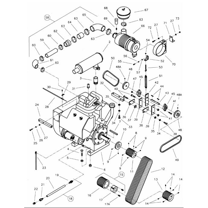 CC6000D Diamond Products Core Cut Walk Behind Saws Parts