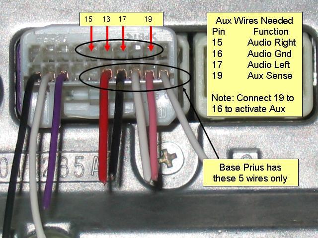 2007 Tundra Fog Light Wiring Diagram Adding A Free Aux In To A 2007 Prius Coreforge