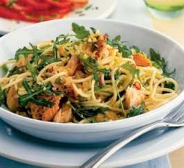 Healthy recipes - Wild Salmon Gluten Free Pasta by Wray Organic and Core Health Coaching