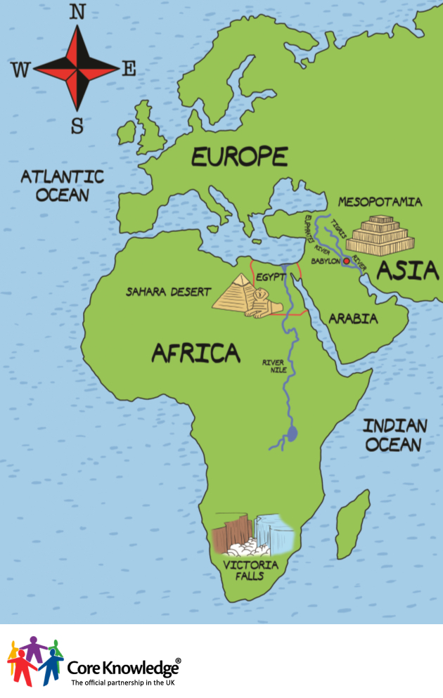 Whuite And Map Asia Europe Africa And