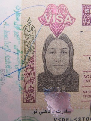 A picture a the author's visa, courtesy of Jill Stock