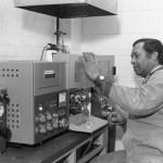 Tom Best, III, in AMC Lab