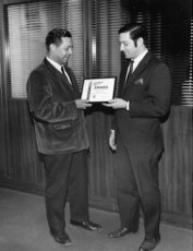 Tom Best, III, receiving AMC award