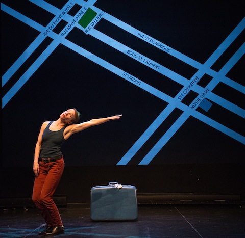 Louise Moyes performs in Taking in Strangers