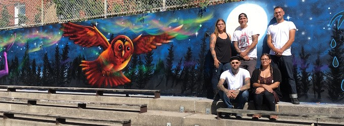 Say Aanii to the Artists Behind the Creator's Game Mural