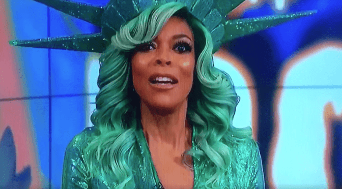 Wendy Williams, host of 'The Wendy Williams Show' in her Statue of Liberty costume