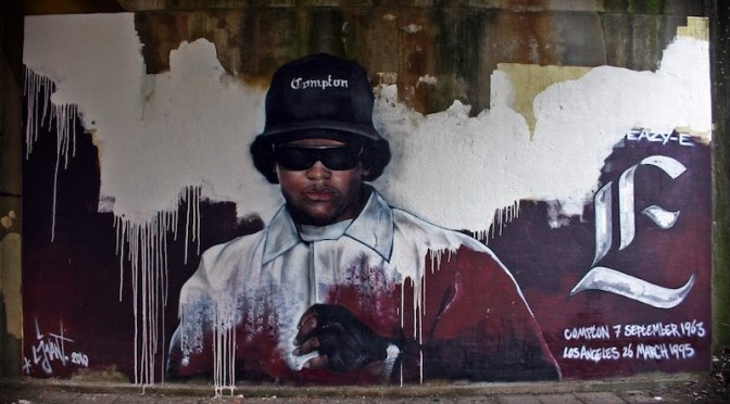 Memorial Eazy-E made_by_streetartist_LJvanT_@_Leeuwarden_the_Netherlands