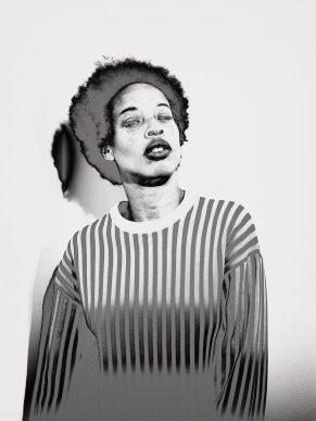 Model Stacey McKenzie from IPSEITY. Photo: Brendan Meadows