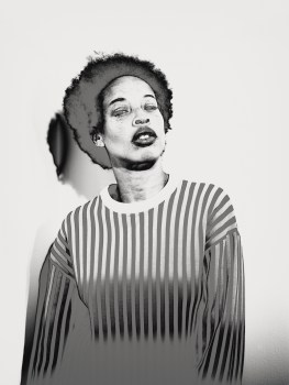 Model Stacey McKenzie from IPSEITY. Photo: Brendan Meadows