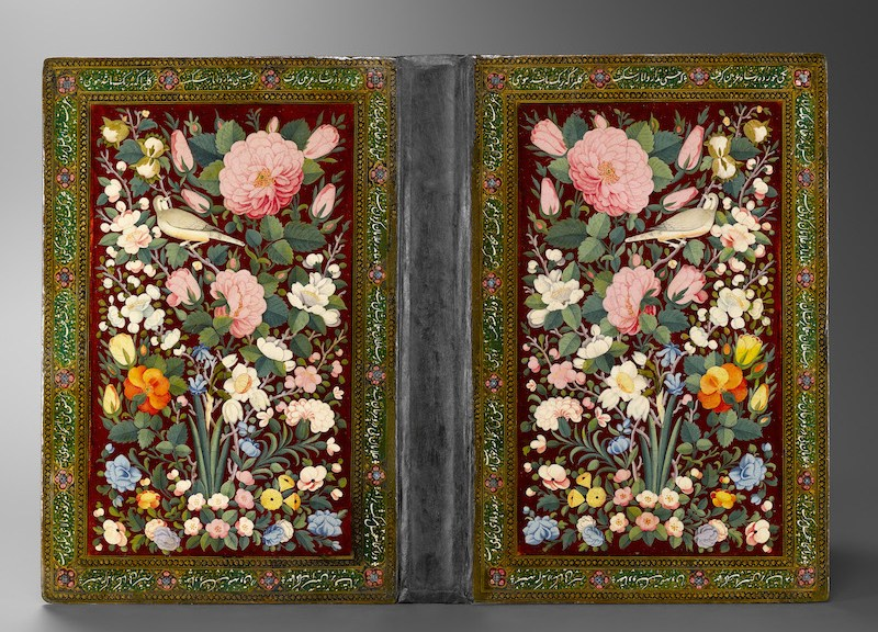 Bookbinding with Flowers and Birds Iran, late 18th to early 19th century Musée du Louvre, Paris