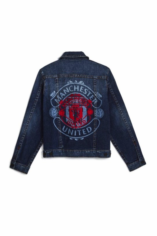 A Manchester United jacket designed by True Religion
