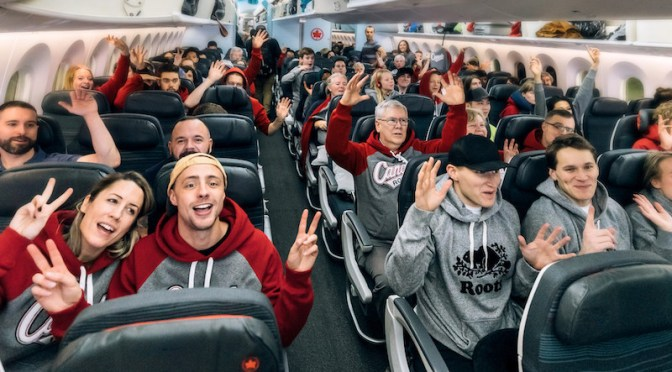 Roots outfits passengers in sweatpants for Air Canada flight to Australia