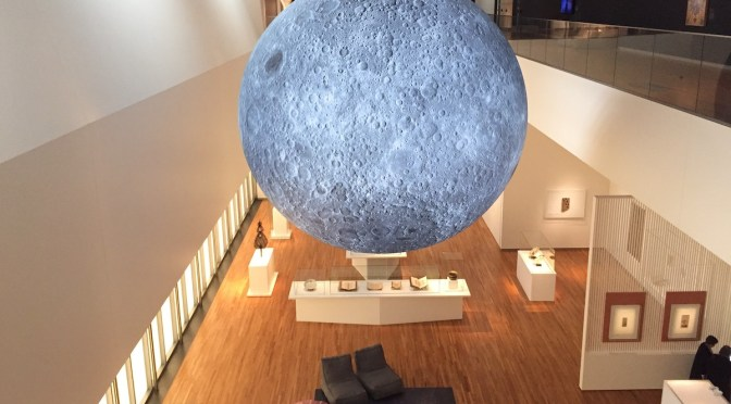 Voyage through time to experience a giant moon created from NASA robotic imagery