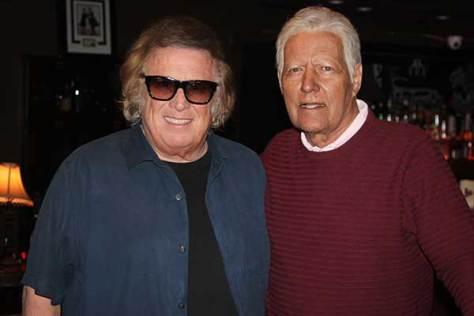 Don McLean poses with Alex Trebek