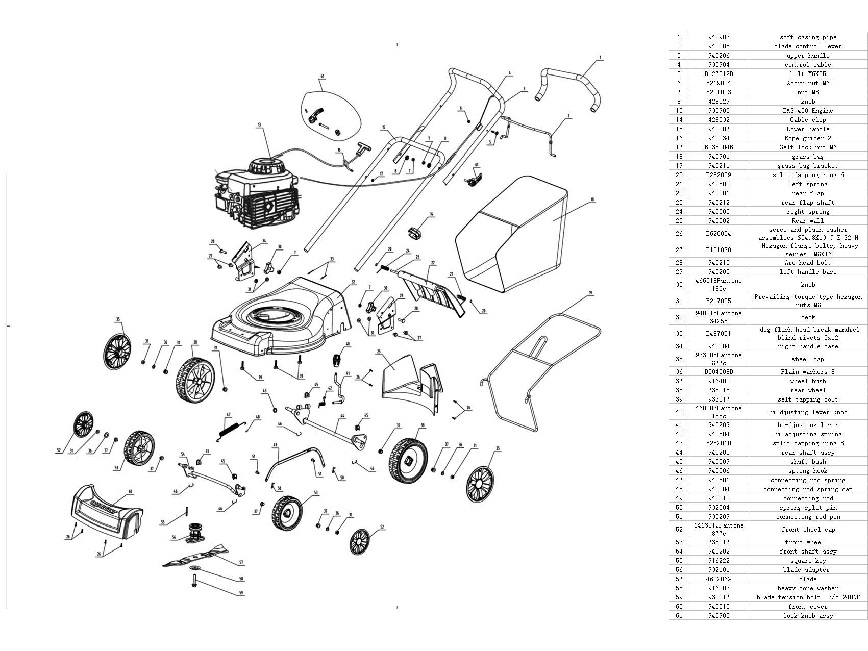 Qualcast 46cm Push Petrol Lawnmower