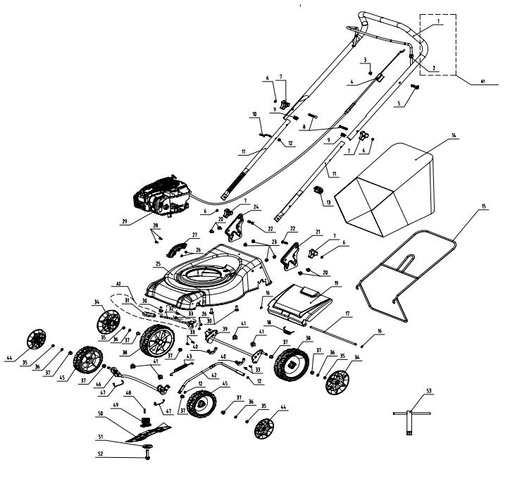 B&Q OWN BRAND 40CM PETROL LAWNMOWER BRIGGS & STRATTON 450E