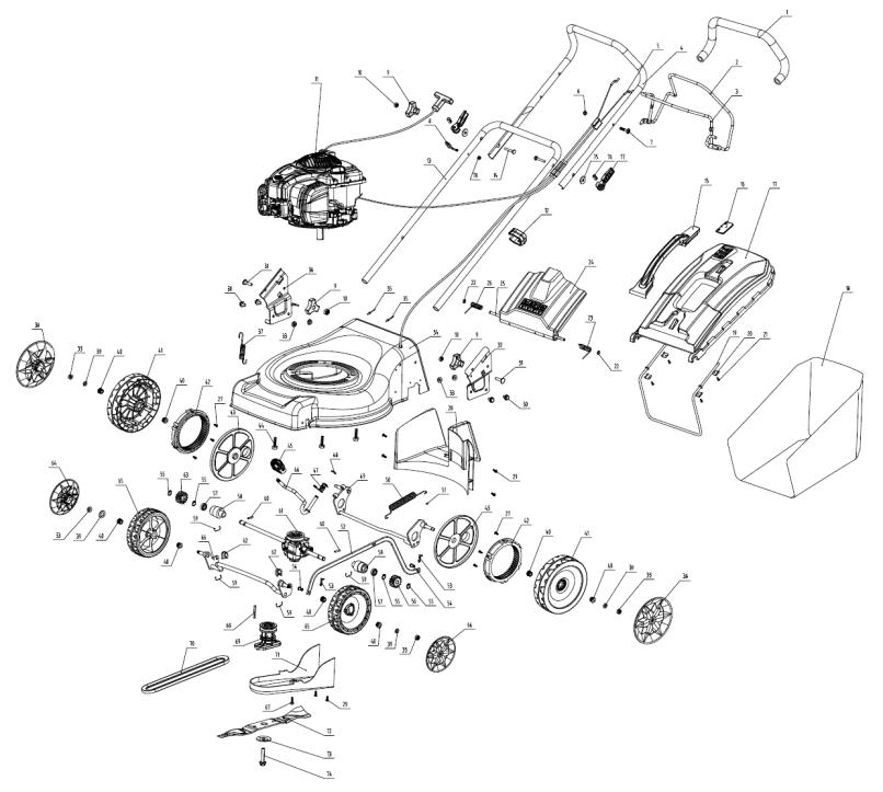 Gardenline 46cm Self Propelled Petrol