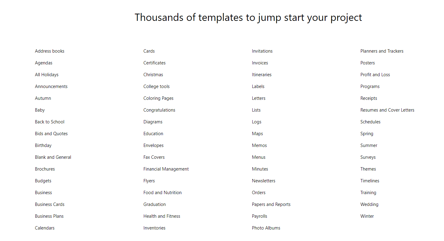 How to use Microsoft templates to track your goals