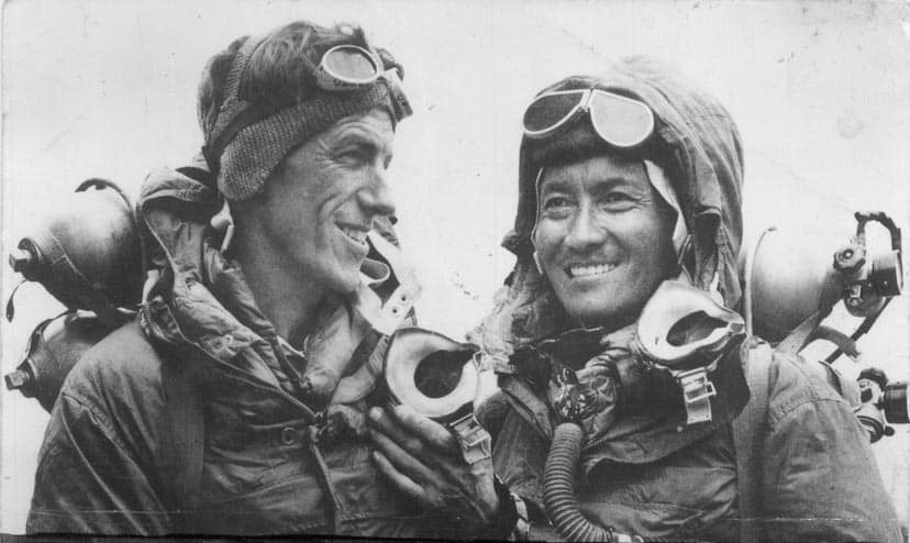 first visit Mount Everest -Edmund Hillary and Tenzing Norgay