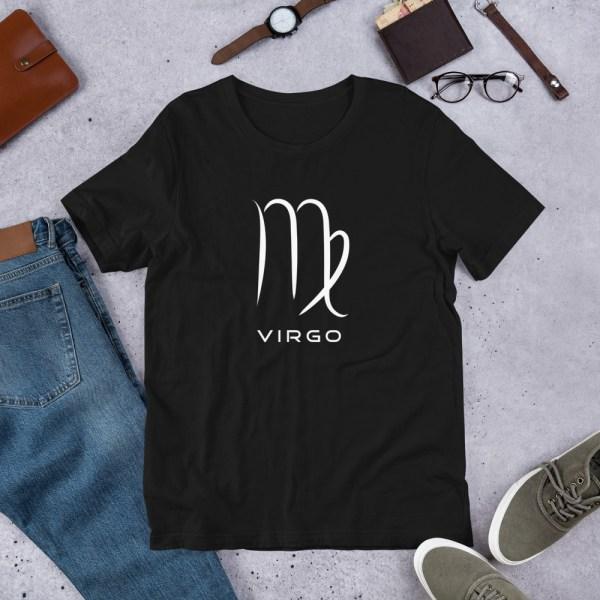 Sci-fi zodiac unisex black t-shirt Virgo