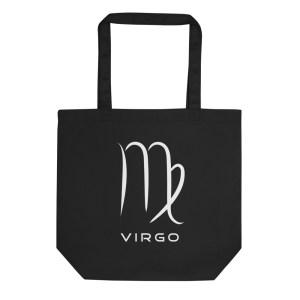 Sci-fi zodiac collection Virgo eco tote bag front