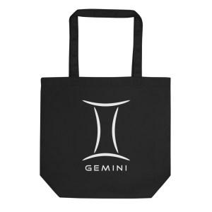 Sci-fi zodiac collection Gemini eco tote bag front