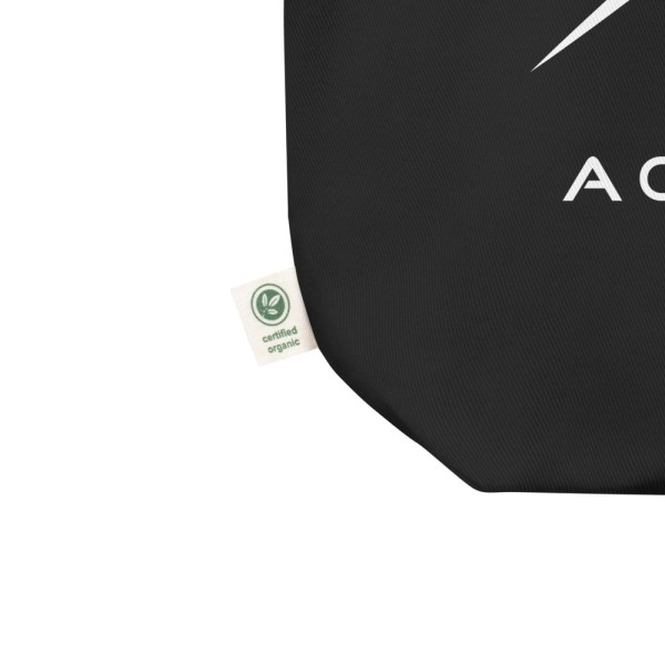 Sci-fi zodiac collection Aquarius eco tote bag certified organic tag