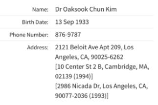 Dr Oaksook Chun Kim