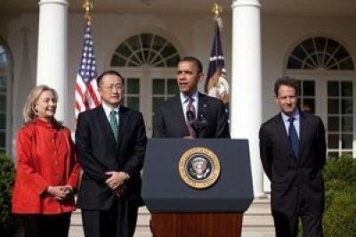 Barack Obama, Hillary Clinton, Jim Yong Kim