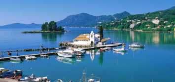 Greek island Corfu Mouse Island