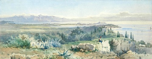 Angelos Giallina - View of the Achilleon from Agioi Deka