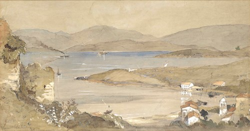 John-Connell Ogle - View of Avlaki from Kassiopi Castle