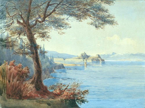Mrs D. Payne Galliwell - View of Old Fortress from the Palace of Mon Repos