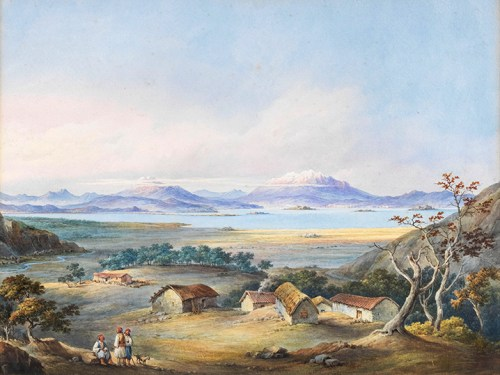 William Page - View of Albanian Mountains from Kassiopi