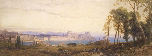 Thomas-Miles Richardson - View of the Old Fortress from Garitsa Bay