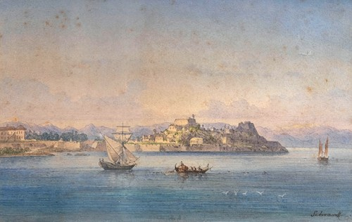 Anton Schranz - View of the Old Fortress, Corfu