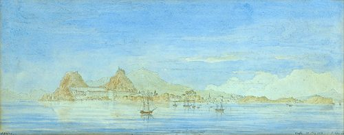 John Skene - View of the Old Fortress from Vido