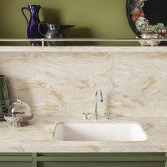 Kitchen Counter Tops Spraying Cabinets 可丽耐 厨房台面 人造石 杜邦 实体面材给厨房设计带来极大的表现自由度 兼具艺术美感和多样性功能 适用于各种风格的厨房设计