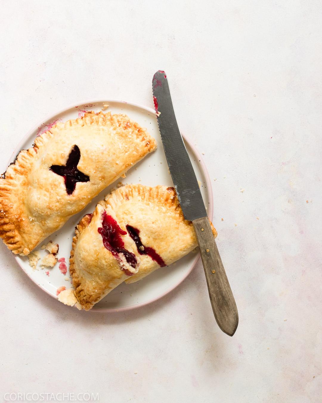 Sour Cherry & Lavender Hand Pies