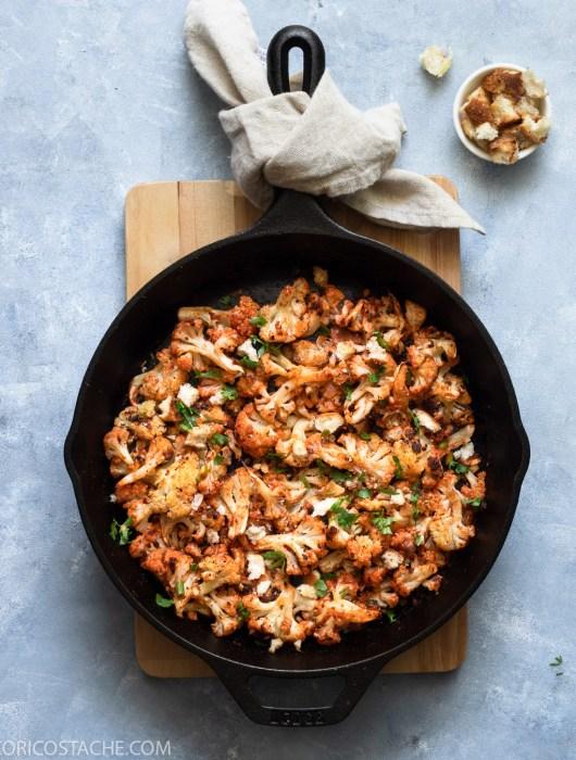 Spicy Cauliflower With Breadcrumbs & Fresh Garlic