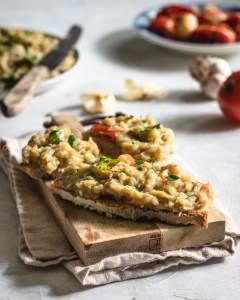 Eggplant Dip with Roasted Tomatoes & Garlic