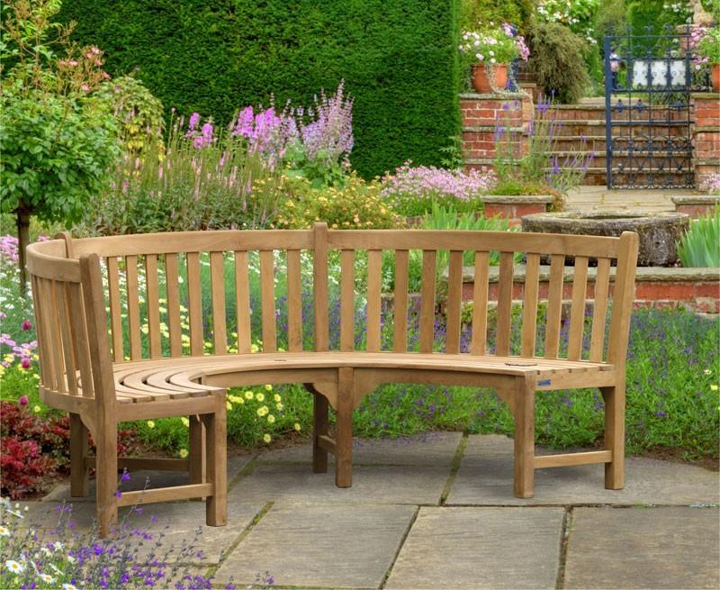 metal garden sofa sets latest designs of wooden henley teak curved bench | semi circle