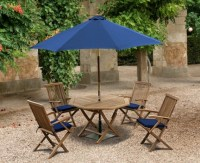 Outdoor Foldable Table and Arm Chairs - Patio Garden ...